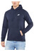 Nike NSW PO FLC Club Hoodie Men obsidian/obsidian/white